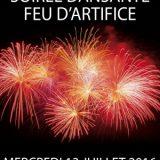 Fête Nationale 14 juillet - Feux d'artifice 2016, 13 et 14 juillet, Villes et Villages des Alpes-Maritimes (06) / Événementiel - Côte d'Azur