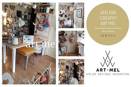 Art'Mel Nice – Atelier boutique – Ateliers créatifs à Nice – Alpes-Maritimes