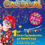 Corso Carnavalesque Nocturne 2018, 1er Corso Carnavalesque en lumières, Jeudi 22 février 2018, Beausoleil, (06240) / Alpes-Maritimes (06) / Côte d'Azur