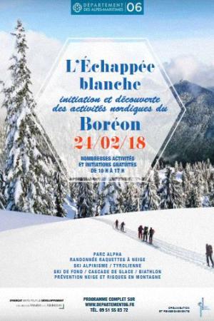 L'Échappée blanche 2018, Activités nordiques, Le Boréon, Samedi 24 février 2018, Saint-Martin-Vésubie (06450) / Alpes-Maritimes (06) / Côte d'Azur