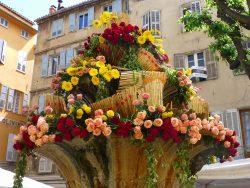 Fontaine en bouquet de roses
