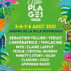 Villa Plages, Cannes, Villa Rothschild, Du 5 au 8 août 2021