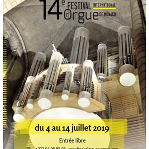 Festival International d'Orgue de Monaco, 4 au 14 juillet 2019