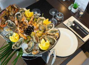 Restaurant L'Alcyon, Antibes, Plateau fruits de mer