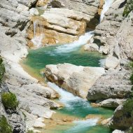 Les eaux turquoises de L'Estéron –  Aiglun