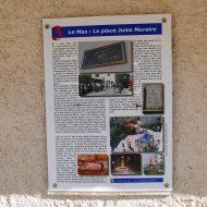 Panneau explicatif, Place Jules Muraire – Le Mas 06