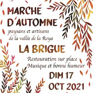 Grand Marché d'Automne, La Brigue, Dimanche 17octobre 2021